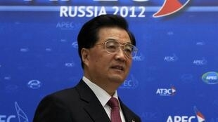 O presidente chinês, Hu Jintao, em abertura da cúpula da Apec.