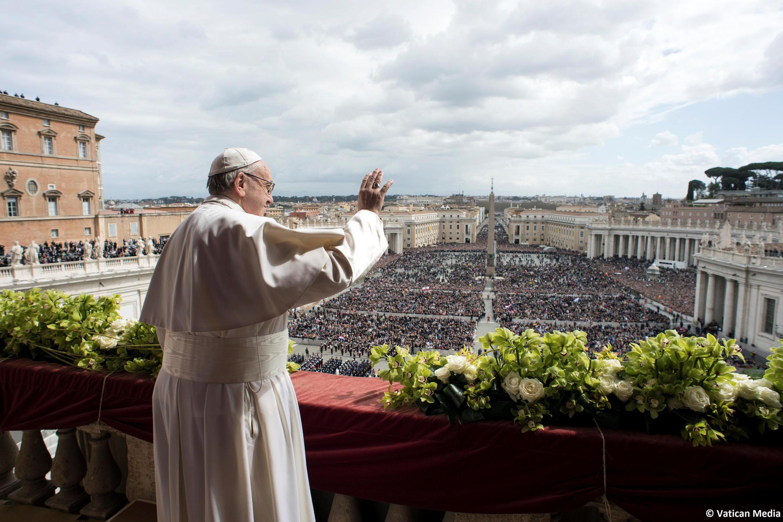 Giáo hoàng Phanxicô đọc thông điệp Urbi Orbi nhân lễ Phục Sinh, Vatican, ngày 01/04/2018