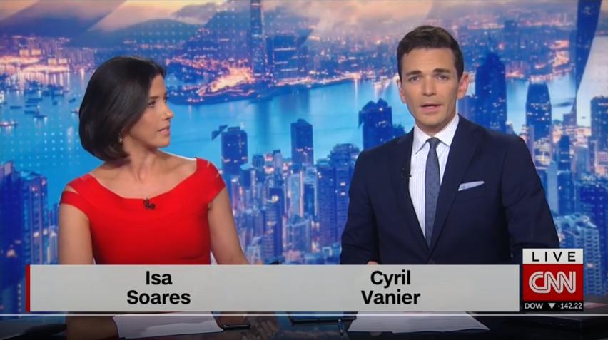 Isa Soares et Cyril Vanier, sur CNN.