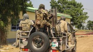 Des soldats nigérians à Ngamdu (nord-est), le 3 novembre 2020 (photo d'illustration).