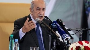 阿尔及利亚新总统塔布纳Abdelmadjid Tebboune2019年12月13日阿尔及尔