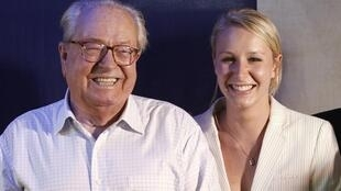 Jean-Marie Le Pen with his granddaughter Marion Marechal-Le Pen , file picture 2012.