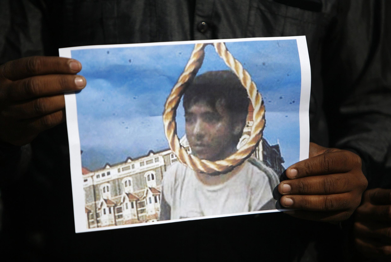 O paquistanês Mohammad Ajmal Kasab foi enforcado nesta quarta-feira, 21 de novembro de 2012, em uma prisão indiana.
