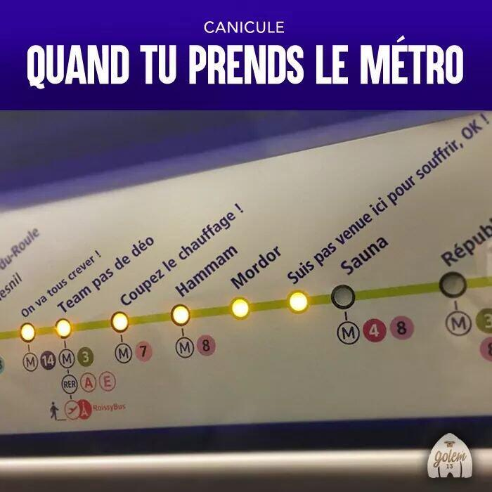 Paris's metro stations are renamed in a graphic doing the rounds on social media.