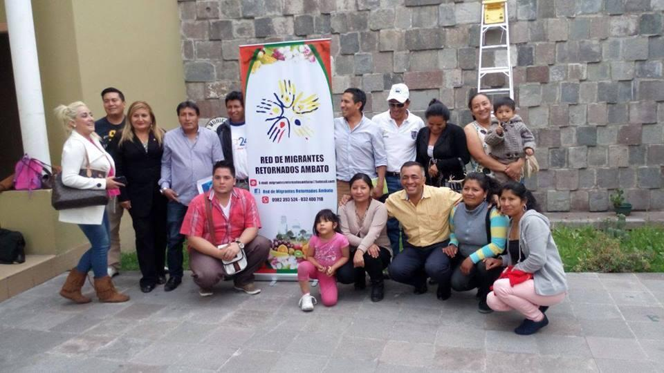 Red Nacional de Migrantes Retornados al Ecuador, Ambato.