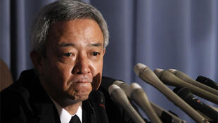 Japan's newly appointed reconstruction minister Ryu Matsumoto after resigning