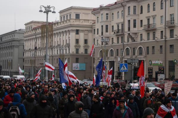 В акции участвовало около тысячи человек, что немало, по белорусским меркам, Минск, 7 декабря 2019 г.
