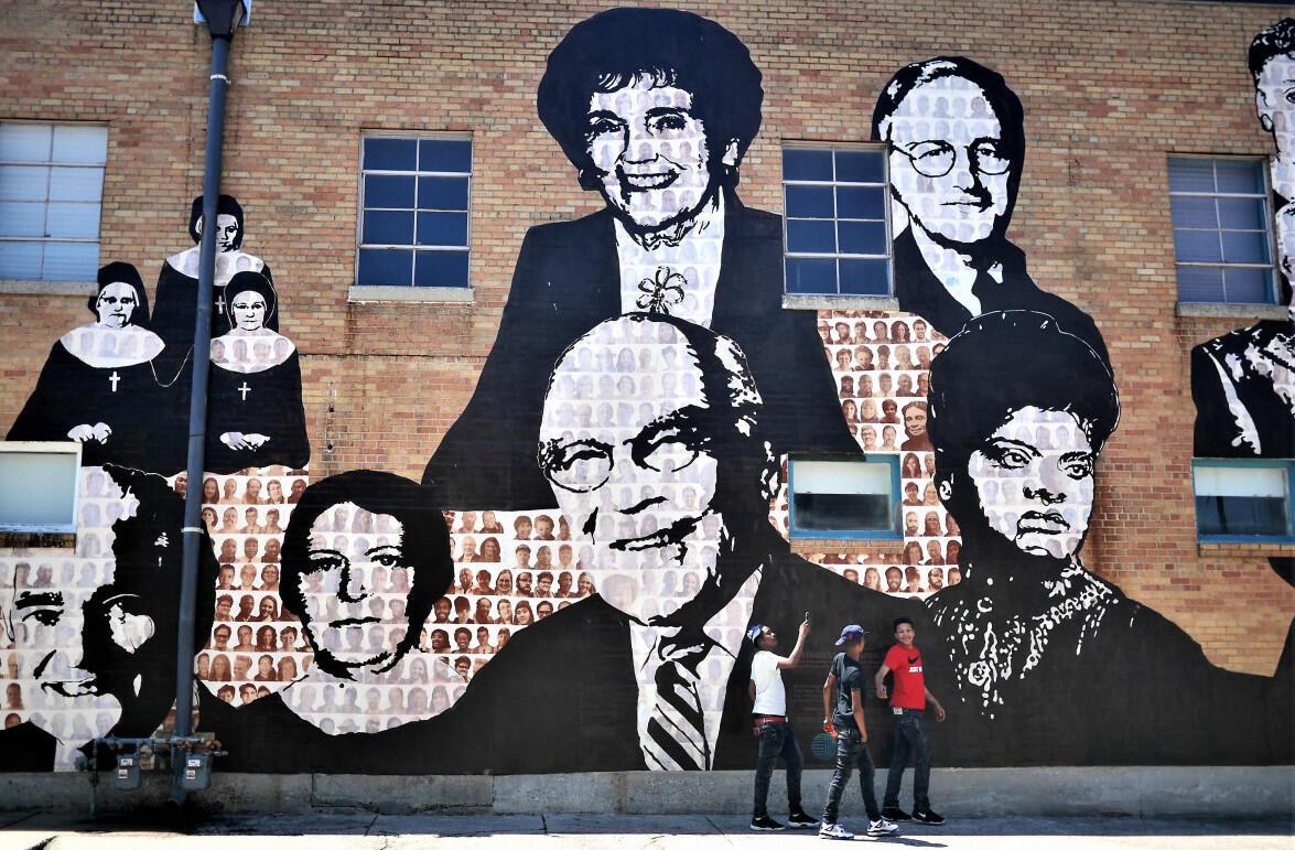 Une fresque non loin du Lorraine Motel où a été tué Martin Luther King et qui jouxte le Musée des droits civiques de Memphis.