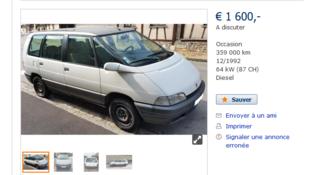 L'un des 600 000 véhicules franciliens concerné par l'interdiction de circuler à Paris
