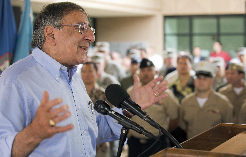Bộ trưởng Quốc phòng Mỹ Leon Panetta nói chuyện tại Bộ Chỉ huy Thái Bình Dương, Honolulu, Hawai, 31/05/2012