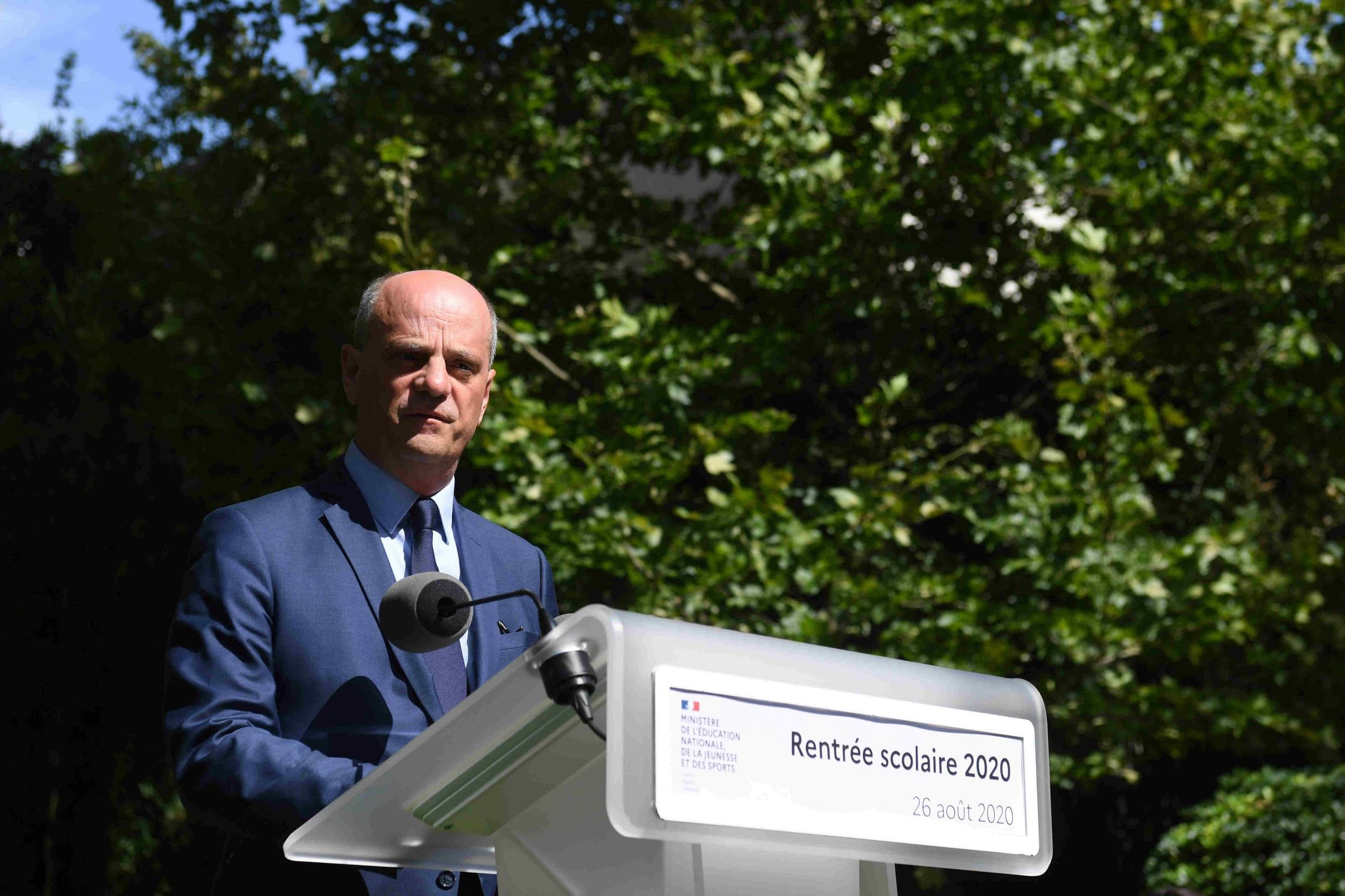French education minister Jean-Michel Blanquer, speaking at the beginning of the school year in September 2020.