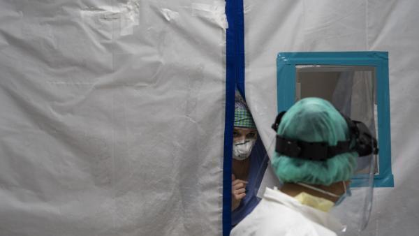 Dans le service de soins intensifs de l'United Memorial Medical Center, de Houston, Texas, le 30 juin.