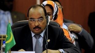 Le Président de la Mauritanie, Mohamed Ould Abdel Aziz.
