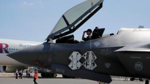 Ba binh chủng Hải-Lục-Không Quân Mỹ sẽ được trang bị thêm 90 chiến đấu cơ F-35 trong năm 2018. Ảnh minh họa F-35 tại Triển lãm Hàng Không Le Bourget, Pháp, ngày 18/06/2017.