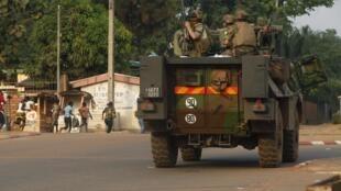 Des soldats français de l'opération Sangaris, à Bangui, le 18 février 2014.