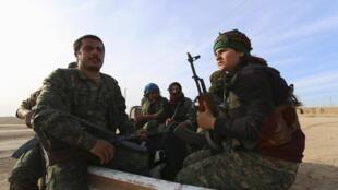 Lực lượng Dân chủ Syria của người Kurdistan tại Hasaka, Syria ngày 17/02/2016.