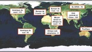 全球页岩气储藏分布图