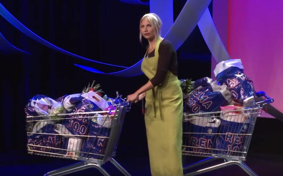 A  russa Selina Juul que criou um grupo no Facebook para compartilhar dicas de como evitar desperdício de alimentos.