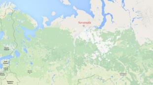 Шахта «Северная» на карте