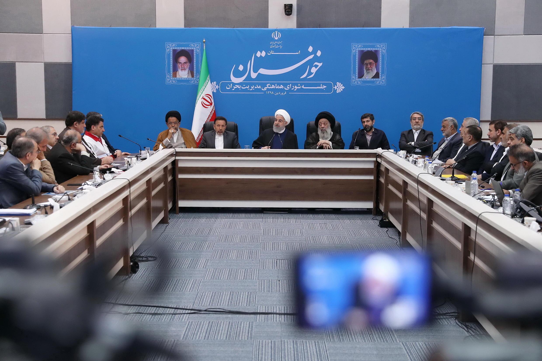 روحانی در جلسه شورای هماهنگی مدیریت بحران استان خوزستان