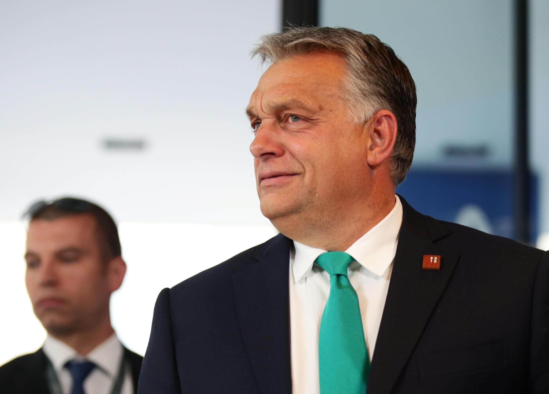Le Premier ministre hongrois Viktor Orban lors d'une réunion du PPE à Salzbourg, le 19 septembre 2018.