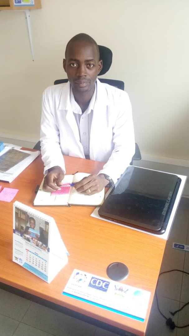 Dr. James Kanyimba, head of pilot project to set up an eletronic data register at Hoima Referral Hospital for Ugandans living with HIV