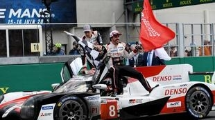 Lady luck smiled on Fernando Alonso, Kazuki Nakajima and Sebastien Buemi as they sealed back-to-back Le Mans 24 Hours titles, 16 June 2019.