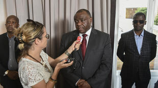 Jean-Pierre Bemba, au micro de Sonia Rolley, le 24 juillet 2018.