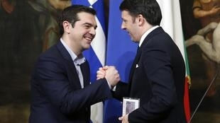 Alexis Tsipras et Matteo Renzi, le 3 février à Rome.