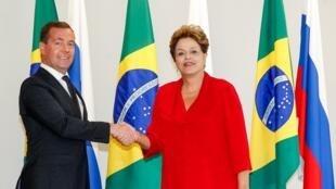 Presidenta Dilma Rousseff recebe Dmitri Medvedev Primeiro-Ministro da Rússia. (Brasília-DF, 20/02/2013)