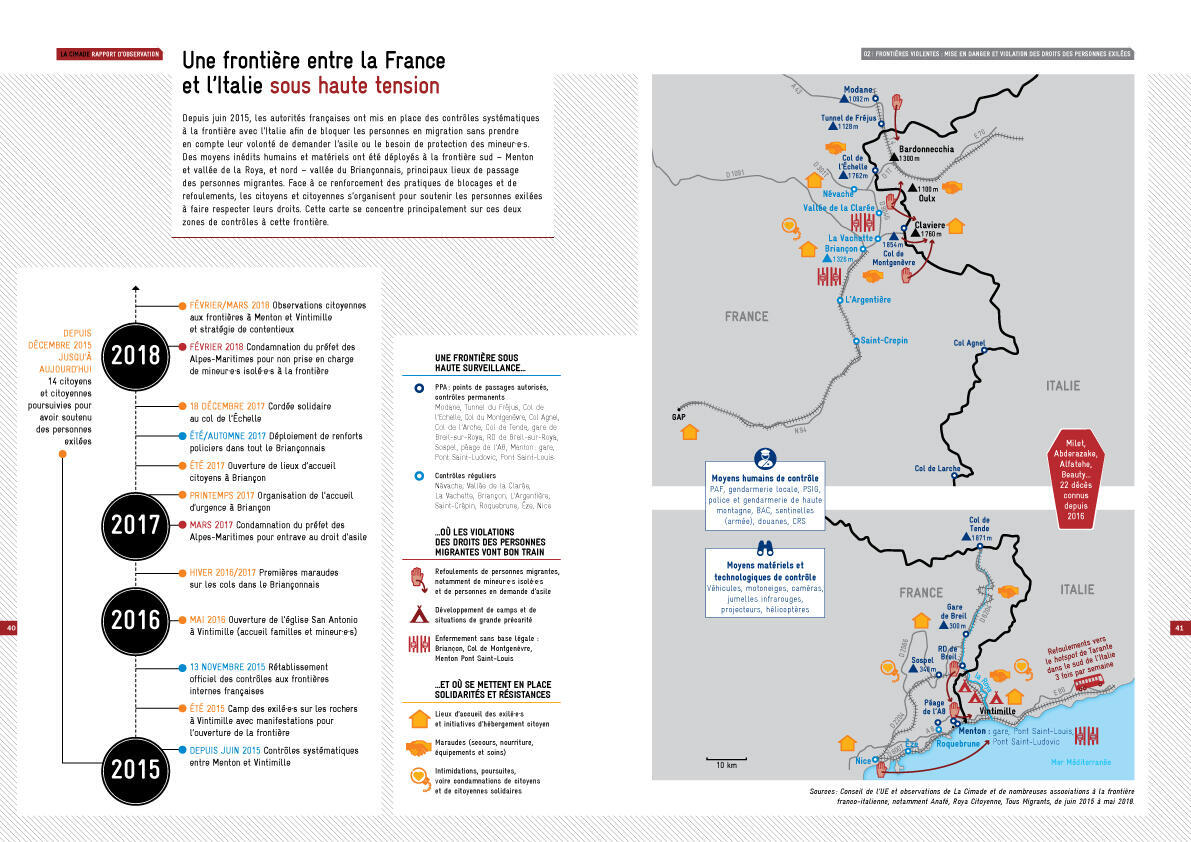 Dedans, dehors : une Europe qui s'enferme (Rapport de la Cimade)