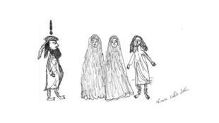 کاریکاتور پیامبر اسلام، اثر Sara Azmeh Rasmussen