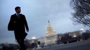 Vue du Congrès américain à Washington en janvier 2011.