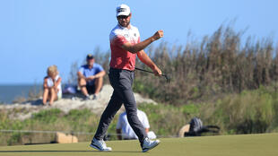 Corey Conners, who fired a five-under par 67 to seize the 18-hole lead of the PGA Championship, was among the early starters in Friday's second round at Kiawah Island