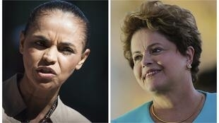 Las candidatas Marina Silva y Dilma Rousseff.