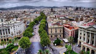 Une vue du secteur nord-est du centre ville de Barcelone.