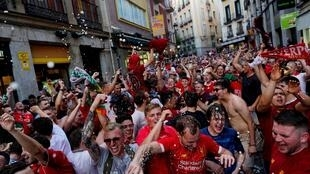 Soccer Football - Champions League Final - Tottenham and Liverpool fans arrive in Madrid - Madrid, Spain - May 31, 2019 Liverpool fans ahead of the final