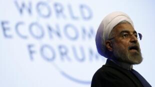 Discours d'Hassan Rohani à Davos, le 23 janvier 2014.