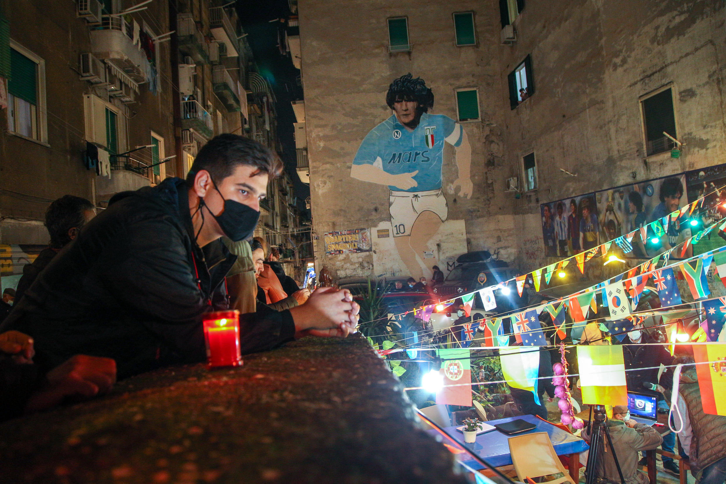 The city of Naples mourned Diego Maradona, who became a hero by leading Napoli to two Italian league titles