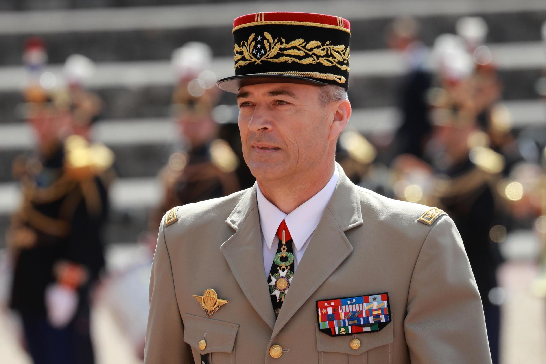 Thierry Burkhard, chef d'état-major de l'armée de Terre, le 18 juin 2020, lors de la cérémonie commémorative de l'Appel du 18 juin 1940 au Mont-Valérien, près de Paris.