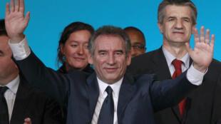 François Bayrou, líder del partido centrista MoDem y candidato a las elecciones presidenciales.
