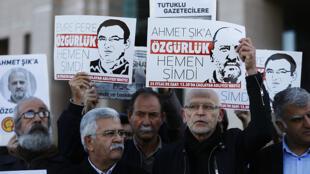 اعتراض به زندانی شدن روزنامه نگاران در ترکیه