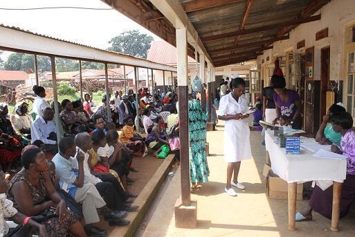 Patients at Hoima Referral hospital in Western Uganda