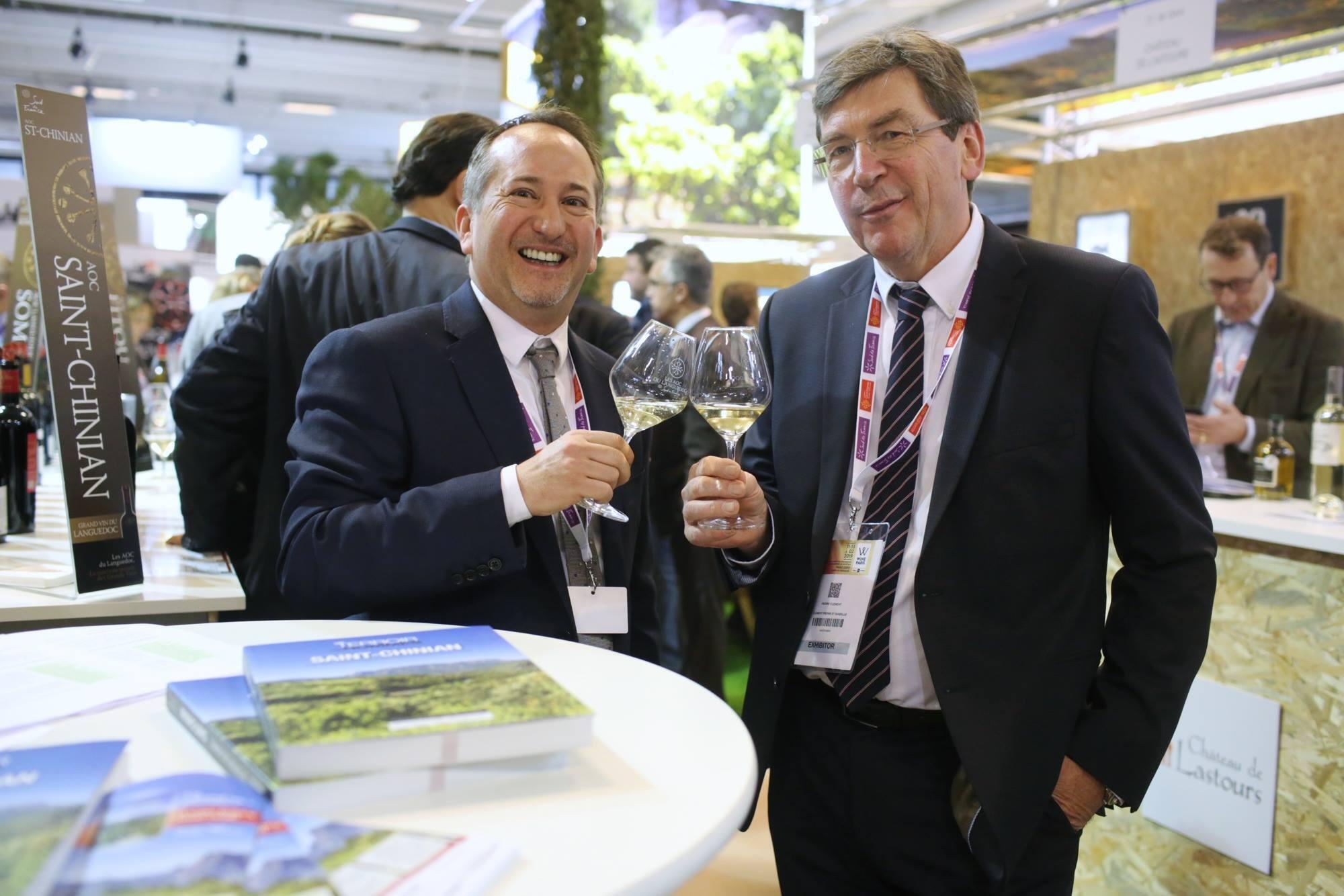 Os diretores dos salões das regiões norte e sul da França, Pierre Clément e Fabrice Rieu.