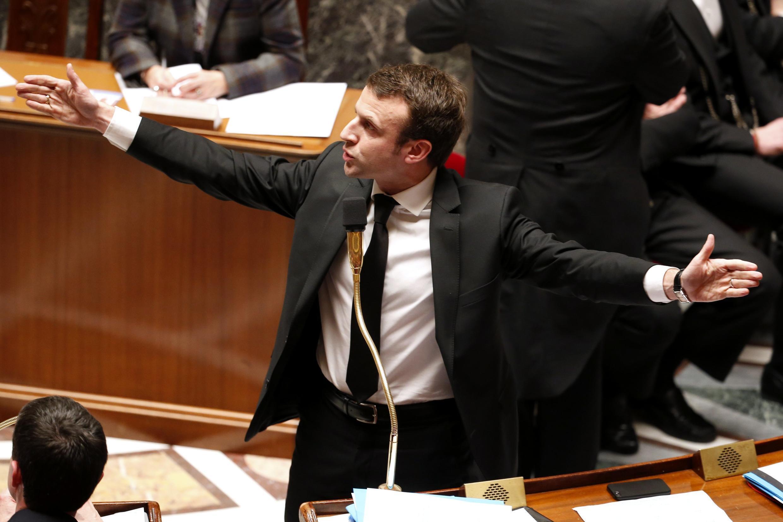 Emmanuel Macron, ministro das Finanças da França.