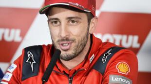 Andrea Dovizioso pilote italien de l'écurie Ducati, sur le circuit Ricardo Tormo près de Valence en Espagne le 14 Novembre 2019.