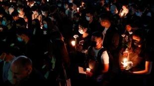 香港民眾反送中2019年11月9日悼念示威喪生的大學生周梓樂