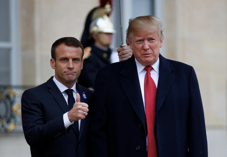 """Depois de reunião no palácio do Eliseu, Trump diz que quer """"Europa forte"""""""