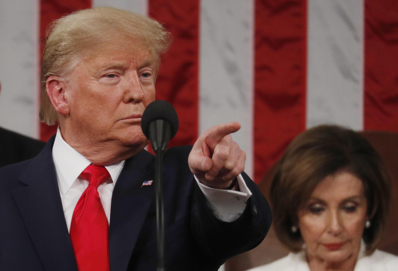 Le président Donald Trump lors de son discours sur l'état de l'Union, le 4 février 2020.