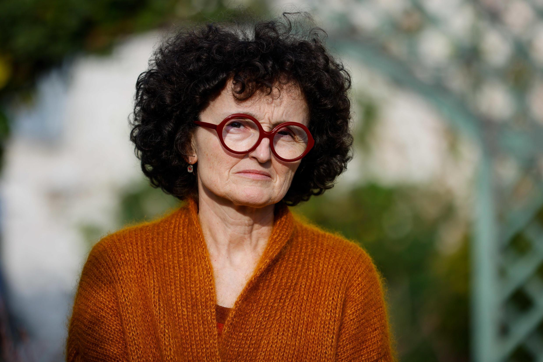 Marie-Hélène Lafon après avoir remporté le prix littéraire Renaudot 2020 pour son roman « Histoire du fils » (Buchet-Chastel).  © Thomas Samson / AFP